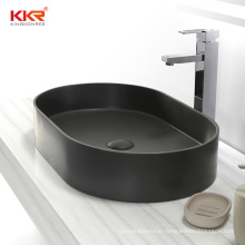 Pure concrete solid surface stone countertop basin sink