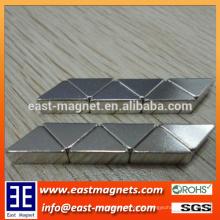 N35 Neodym-Dreieck-Magnet mit Nickel-Überzug / kundenspezifischer kleiner Dreieck ndfeb Magnet