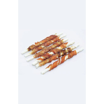 Salmon wrap rawhide stick for dogs