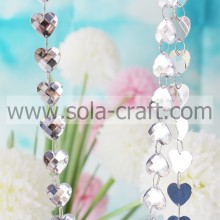 Charm Beautiful Acrylic Crystal Faceted Heart Diamond Strand Bead Garland For Wedding Decoration Curtain Chains Iridescence