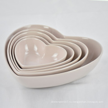 Высококачественная салатница и фруктовая миска для дома в форме сердца