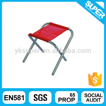 Outdoor lightweight steel foldable BBQ camping fishing stool