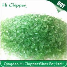 Suelo de terrazo roto rocas de vidrio verde claro