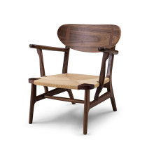 Wooden CH22 Chaise Lounge chair by hans wegner