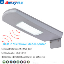 Waterproof Wireless Solar Microwave Sensor Street Light