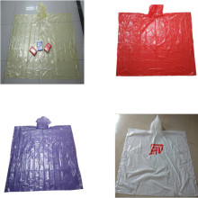 Adult Disposable Plastic Cheap Rain Poncho