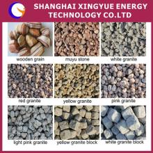 Chinesischer Goldlieferant billiger natürlicher Fluss Polierte flache runde Farbkieselsteine