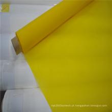 Malha amarela branca da tela do poliéster do monofilamento do Weave liso para imprimir