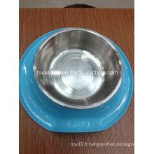 Mélamine et acier inoxydable Pet Bowl