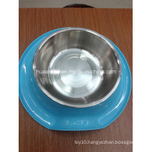 Melamine and Stainless Steel Pet Bowl