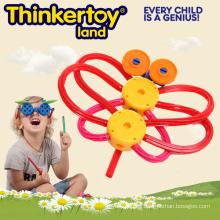 Bloques de construcción de plástico juguete de inteligencia educativa para 3-6 niños
