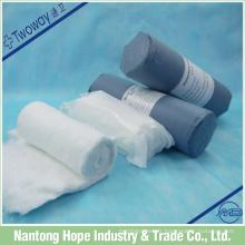 Rouleau de coton avec deux types d'emballage, l'un dans l'autre stérile est non stérile