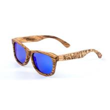 lunettes de soleil en bois à la mode logo bambou lunettes de soleil en bois 2018