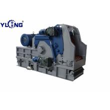 Yulong T-Rex65120A wood chipper with conveyor belt