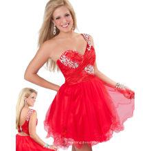 Cheap Girl Portraitante Vestido Sweetheart One Shoulder Short Evening Gown TP12-10S