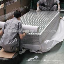 chapa de techo de aluminio en relieve