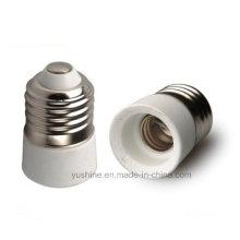 Adaptador de lámpara E27 a E14 con portalámparas de porcelana
