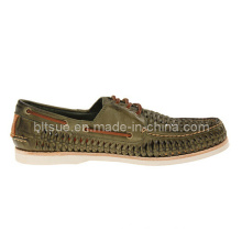 Weave Style Beat Sale Leather Boat Shoes