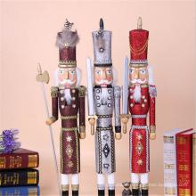 casse-noisette en bois coloré d'ornement de Noël de 65cm pour la décoration de magasin