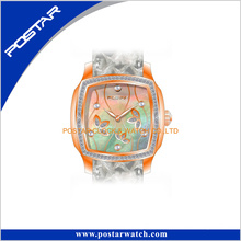 Women Leather Watch with Unique Design Swiss Movt Gift