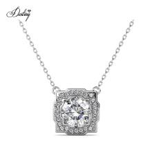 2021 Custom Luxury Jewelry 925 Sterling Silver 1.0 Carat Gra Moissanite Diamond Cushion Pendant Necklace