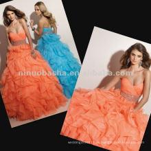 NY-2359 Heißer Verkauf Rüsche Organza Rock Quinceanera Kleid