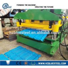 Hochgeschwindigkeits-Fliesenformungs-Art Maschine für das Überdachung, automatische Metall glasierte Stahlschritt-Dachziegel-Rollen-bildende Maschine