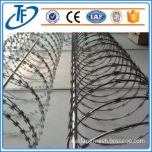 BTO-22 galvanized concertina razor wire