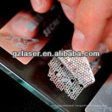 Hologram tamper evident pet plastic honeycomb label for hangtag