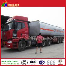 Camion d'asphalte de système de chauffage de trois essieux