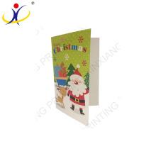 Vente chaude de bonne qualité conception de carte de voeux, carte de voeux en papier