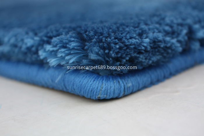 Velvet Polyester Shaggy Rug carpet Blue Color