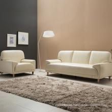 Sofá de cuero moderno de muebles de casa de diseño nueva