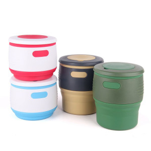Collapsible Coffe Cup Silicone Green Cup Water Bottles