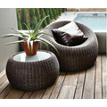 Rattan Furniture Bistro Dining Set per balcone