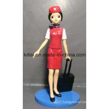 New Air Hostess Plastic Action Figure