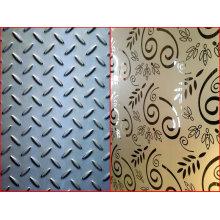 Placa grabada en relieve del acero inoxidable / hoja a cuadros / placa de acero del diamante / pisada