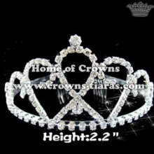Beauty Double Heart Rhinestone Princess Tiaras
