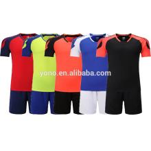 Uniforme por encargo del equipo de fútbol, desgaste del fútbol de alta calidad sin logotipo jersey de fútbol en equipo al por mayor del logotipo