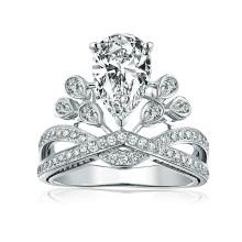 Atacado moda jóias da moda coroa de diamantes acessórios da jóia do anel para as mulheres