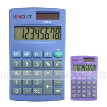 Calculadora de mano de 8 dígitos de la energía dual con varios colores opcionales (LC332B)
