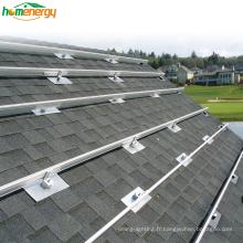 25 ans de garantie Système de montage solaire sur le toit en alliage d'aluminium ou galvanisé à chaud