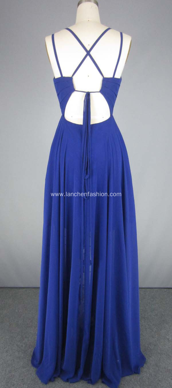 Royal Silk Chiffon Bridesmaid Dress Evening Dresses