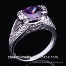 Alibaba Moda ródio banhado a prata anéis de casamento por atacado poland