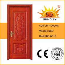 Diseño interior de la puerta principal de madera maciza Sc-W112