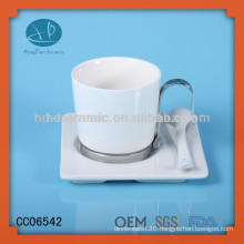 Ceramic porcelain coffee mug packaging boxes,porcelain cup with spoon