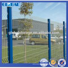 Sistema de valla de alambre de acero recubierto de polvo verde