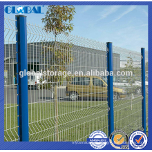 Green Powder coated steel security wire fence system