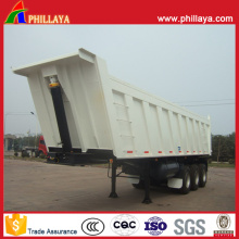3 Axles Van Dump Semi Trailer with Volume Opptional