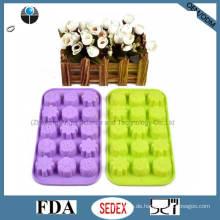 Eis Schokolade Schimmel 15-Cavity Silikon Eis Würfel Schale Si09